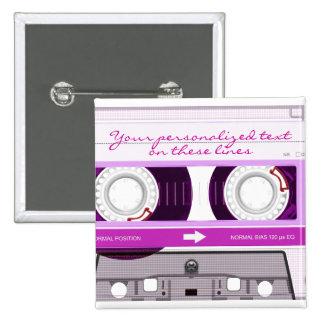 Cassette tape - pink - pins