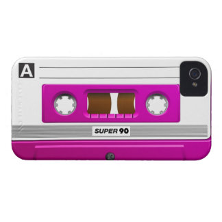 Cassette tape pink iPhone 4 case