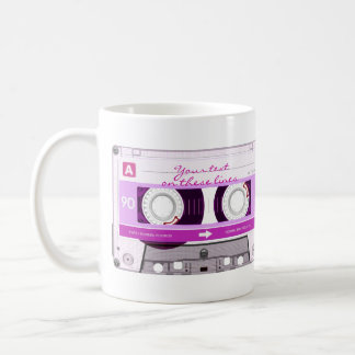 Cassette tape - pink - coffee mug