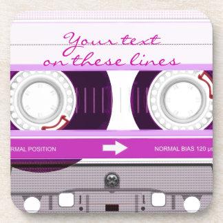 Cassette tape - pink - drink coaster