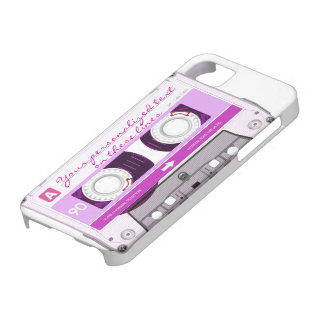 Cassette tape - pink - iPhone SE/5/5s case