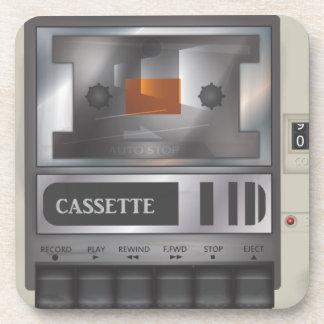 cassette tape player beverage coaster
