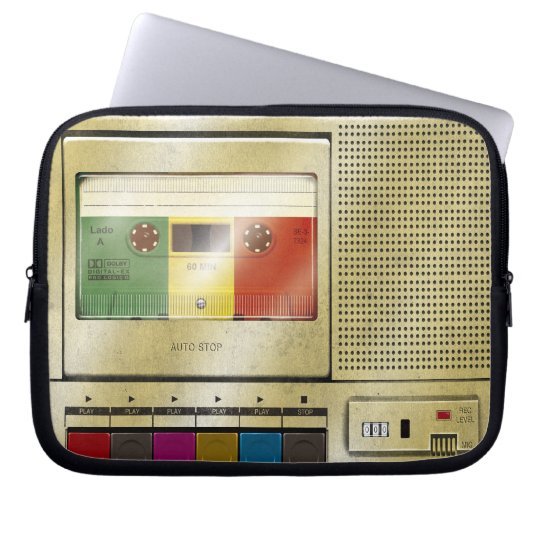 Cassette Tape Player Computer Sleeve