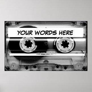 Cassette Tape Poster