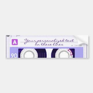 Cassette tape - purple - bumper sticker