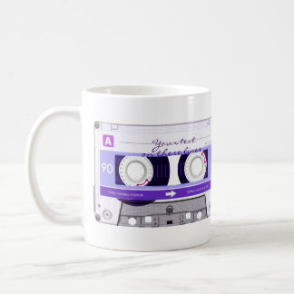Cassette tape - purple - coffee mug