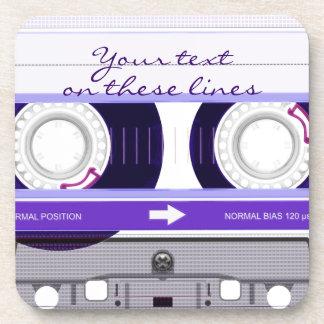 Cassette tape - purple - drink coaster