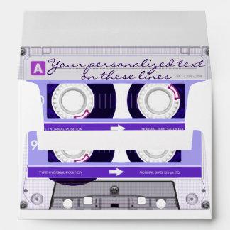 Cassette tape - purple - envelope