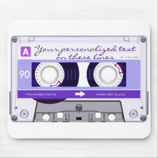 Cassette tape - purple - mouse pad