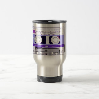 Cassette tape - purple - travel mug