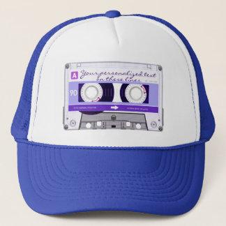Cassette tape - purple - trucker hat