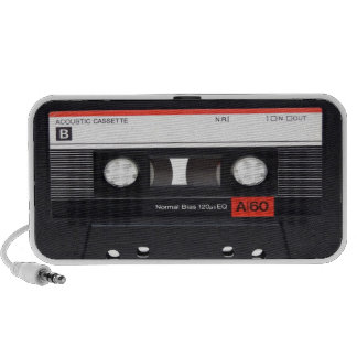 Cassette Tape Red Doodle Speaker