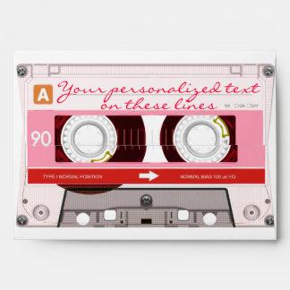 Cassette tape - red - envelope