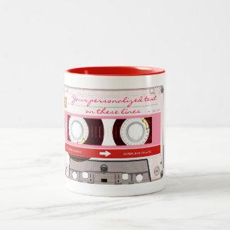 Cassette tape - red - coffee mugs