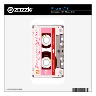 Cassette tape - red - skin for the iPhone 4