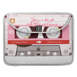 Cassette tape - red - sleeve for MacBook pro