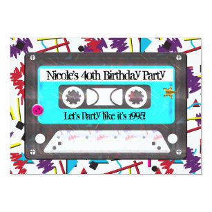 90s Invitations Announcements Zazzle