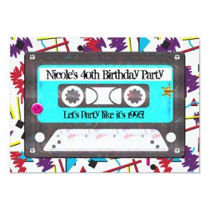 retro party theme invitations zazzle
