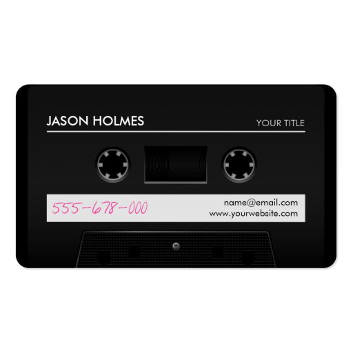 Cassette Tape Retro business card
