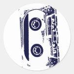 Cassette Tape Round Stickers