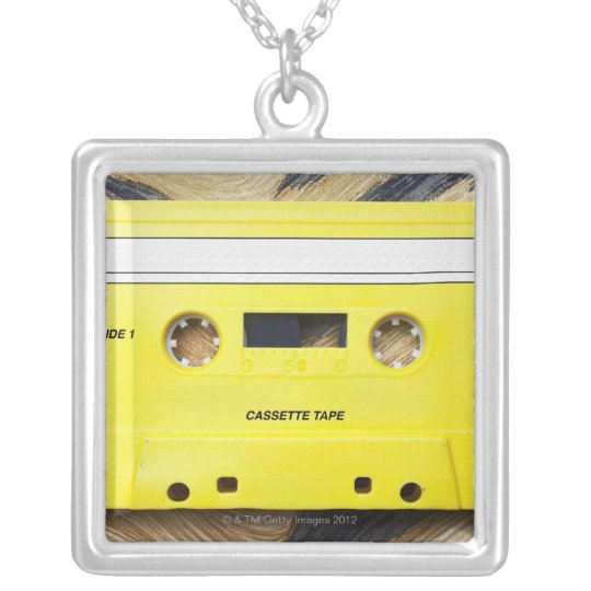 Cassette Tape Silver Plated Necklace