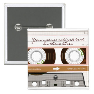 Cassette tape - tan - pins