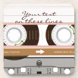 Cassette tape - tan - coaster