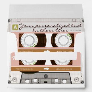 Cassette tape - tan - envelope