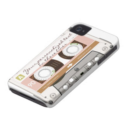 Cassette tape - tan - iPhone 4 cases