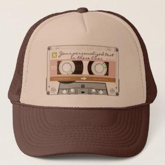 Cassette tape - tan - trucker hat