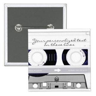 Cassette tape - white - button