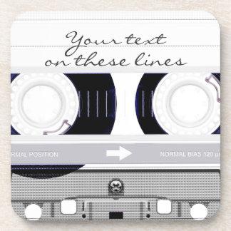 Cassette tape - white - coaster