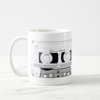 Cassette tape - white - coffee mug