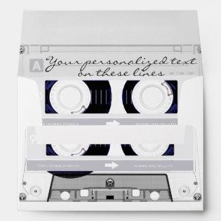 Cassette tape - white - envelope