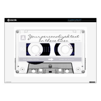 Cassette tape - white - decal for laptop