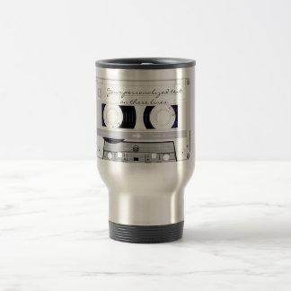 Cassette tape - white - travel mug