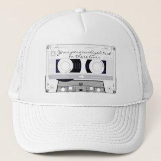 Cassette tape - white - trucker hat