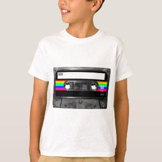 Cassette w/Black and Rainbow Stripe Label T-Shirt