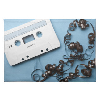 Cassette with Tangled Tape Placemat