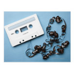 Cassette with Tangled Tape Postcard