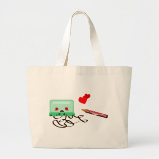 cassettes love tote bags
