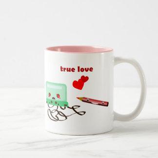 cassettes love coffee mug