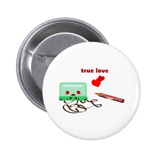 cassettes love pinback button