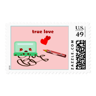 cassettes love stamps