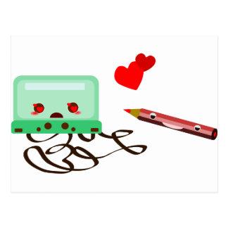 cassettes love postcard