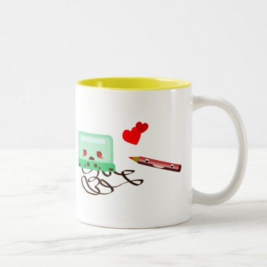 cassettes love Two-Tone coffee mug