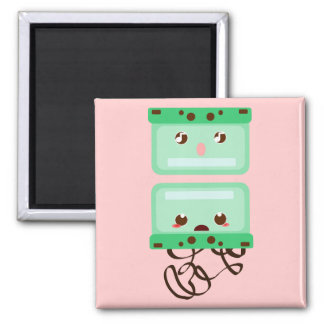 cassettes trouble 2 inch square magnet