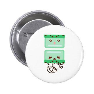 cassettes trouble pinback button