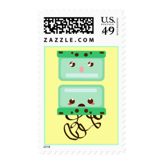 cassettes trouble postage stamp