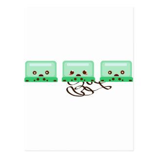 cassettes trouble postcard